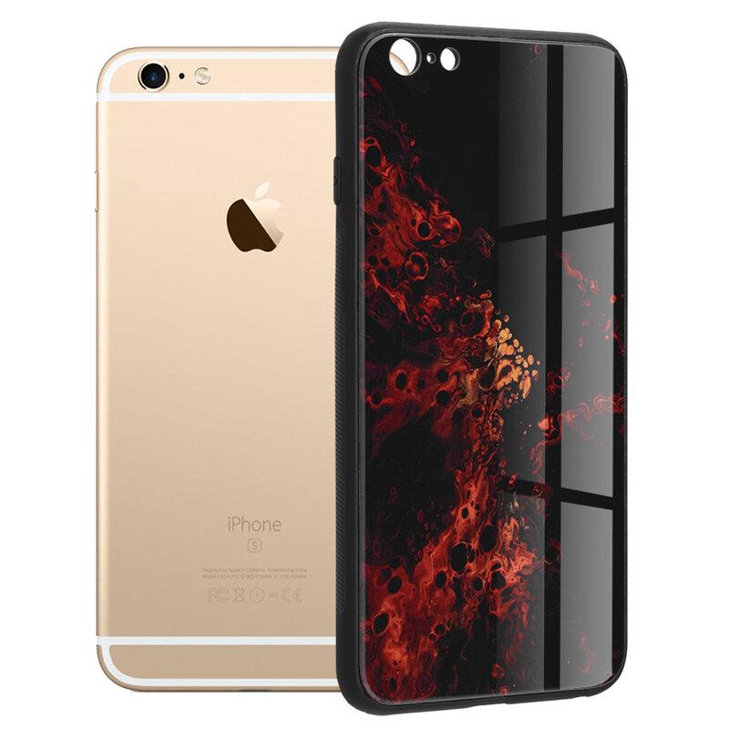 Husa iPhone 6 Plus / 6s Plus Techsuit Glaze, Red Nebula