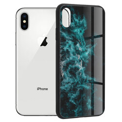 Husa iPhone X, iPhone 10 Techsuit Glaze, Blue Nebula