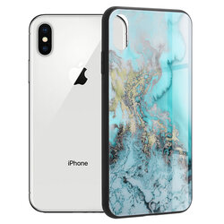 Husa iPhone X, iPhone 10 Techsuit Glaze, Blue Ocean