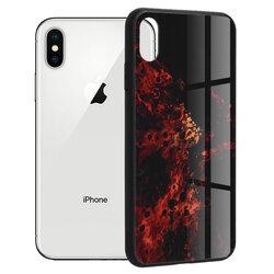 Husa iPhone XS Techsuit Glaze, Red Nebula