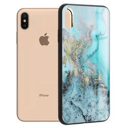 Husa iPhone XS Max Techsuit Glaze, Blue Ocean
