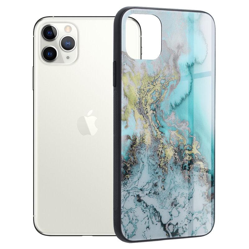 Husa iPhone 11 Pro Max Techsuit Glaze, Blue Ocean