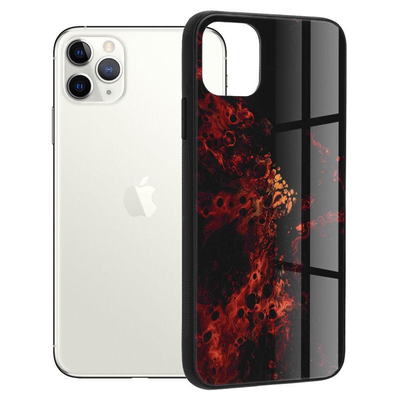 Husa iPhone 11 Pro Max Techsuit Glaze, Red Nebula