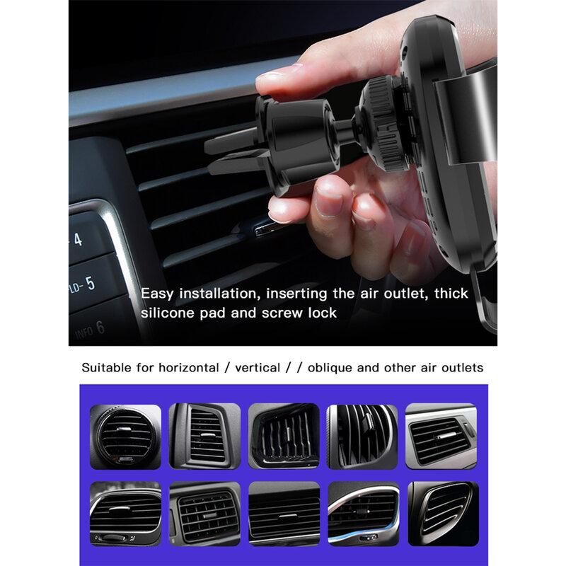 Suport telefon auto Yesido C76, incarcator wireless, 10W, negru