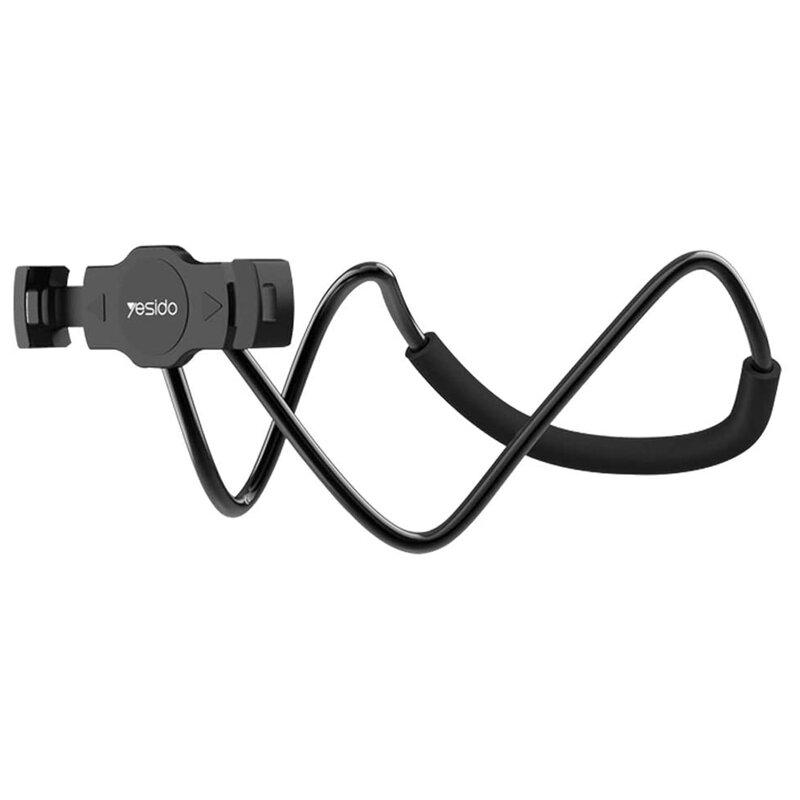 Suport flexibil telefon/ tableta Yesido C80, universal, negru
