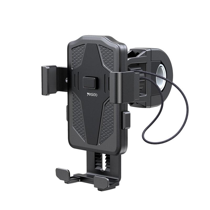 Suport telefon ghidon bicicleta Yesido C94, universal, negru