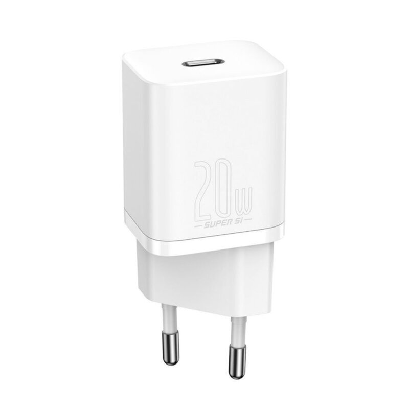Incarcator priza Baseus Type-C, Quick Charge, 20W, alb, CCSUP-B02