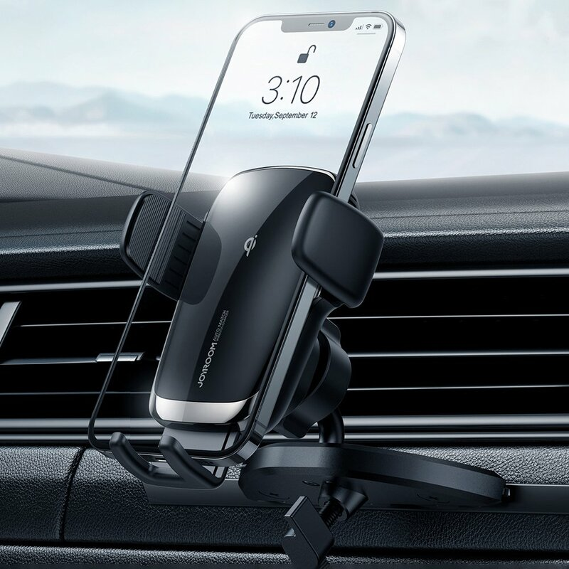 Suport telefon auto JoyRoom, incarcator wireless, CD player, JR-ZS248