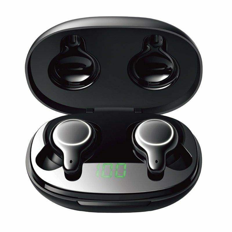 Casti wireless in-ear JoyRoom, TWS earbuds, Bluetooth, negru, JR-T12