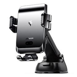 Suport telefon auto bord JoyRoom, incarcator wireless, negru, JR-ZS214