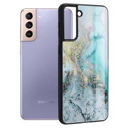 Husa Samsung Galaxy S21 Plus 5G Techsuit Glaze, Blue Ocean