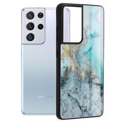 Husa Samsung Galaxy S21 Ultra 5G Techsuit Glaze, Blue Ocean