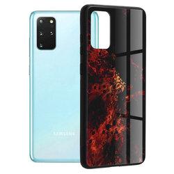 Husa Samsung Galaxy S20 Plus Techsuit Glaze, Red Nebula