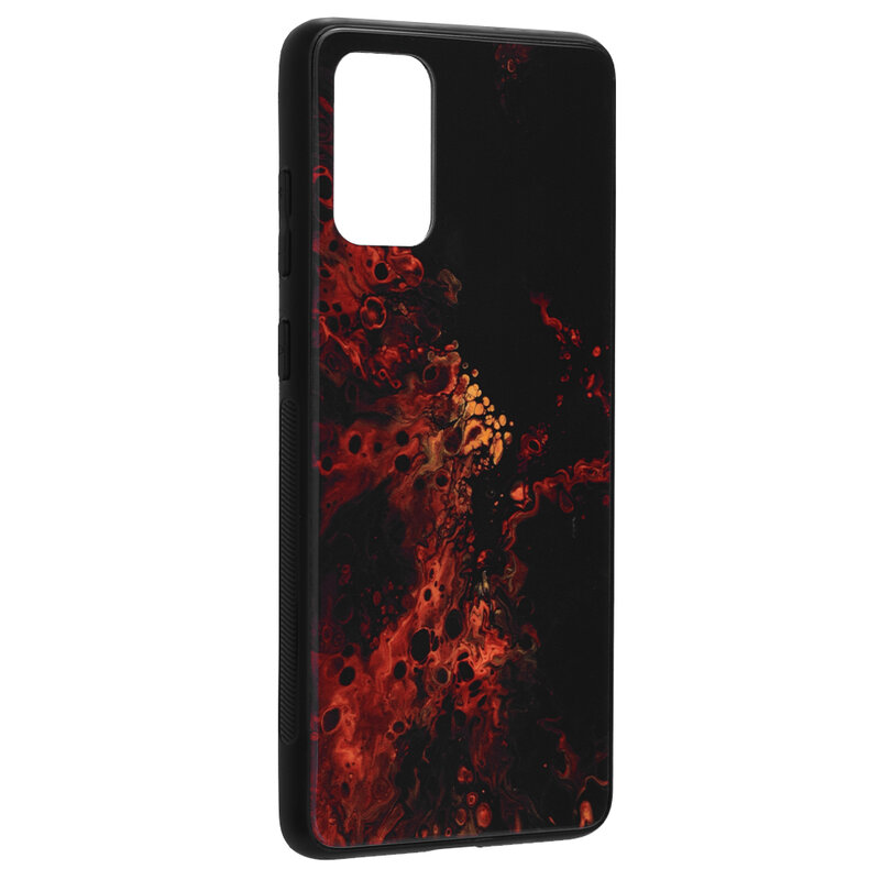 Husa Samsung Galaxy S20 Plus 5G Techsuit Glaze, Red Nebula