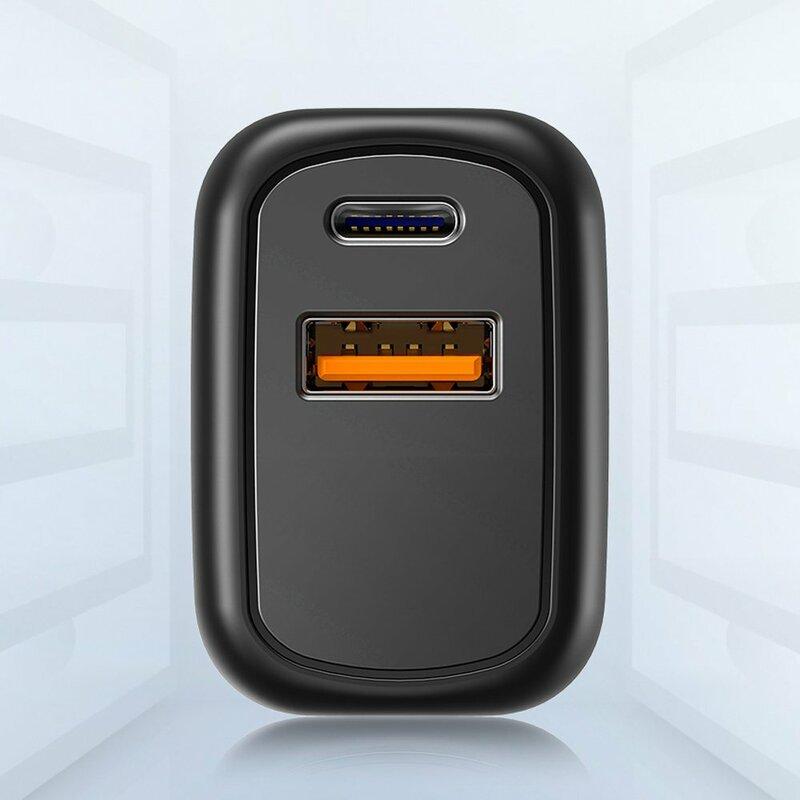 Incarcator priza JoyRoom Type-C PD20W + USB QC3.0, negru, L-QP204