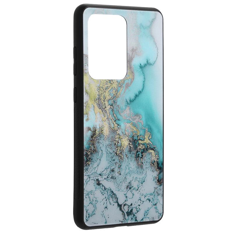Husa Samsung Galaxy S20 Ultra 5G Techsuit Glaze, Blue Ocean