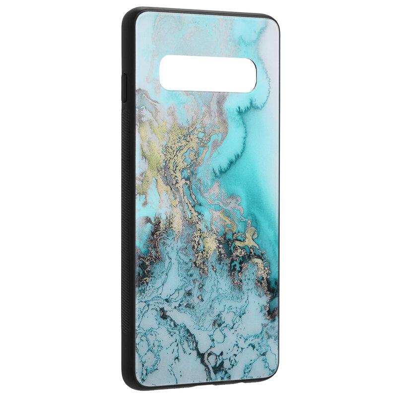 Husa Samsung Galaxy S10 Techsuit Glaze, Blue Ocean