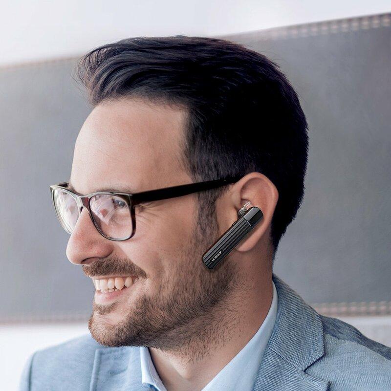 Casca handsfree Bluetooth in-ear JoyRoom cu microfon, negru, JR-B01