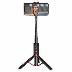 Selfie stick tripod JoyRoom, telecomanda Bluetooth, negru, JR-Oth-AB202