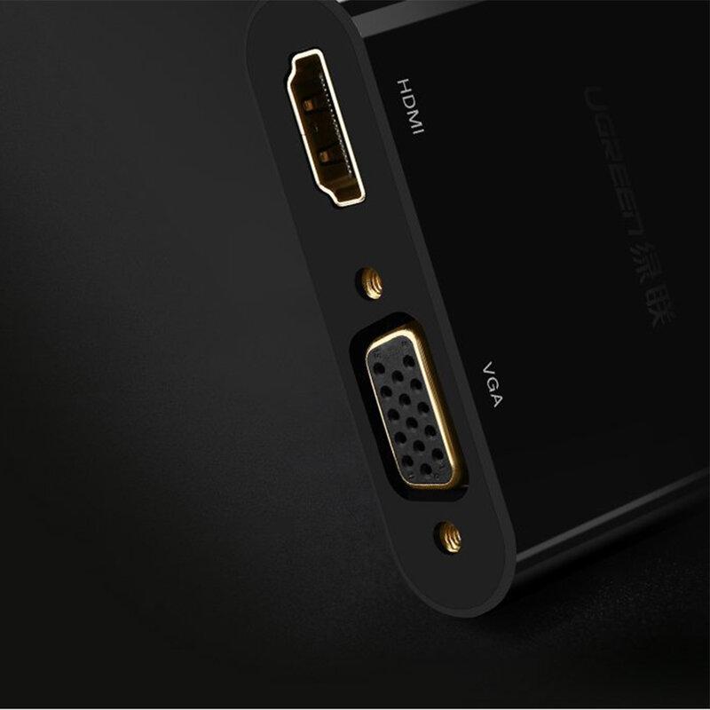 Adaptor HDMI + VGA la Mini DP Ugreen, 4K@30 Hz, negru, 10439