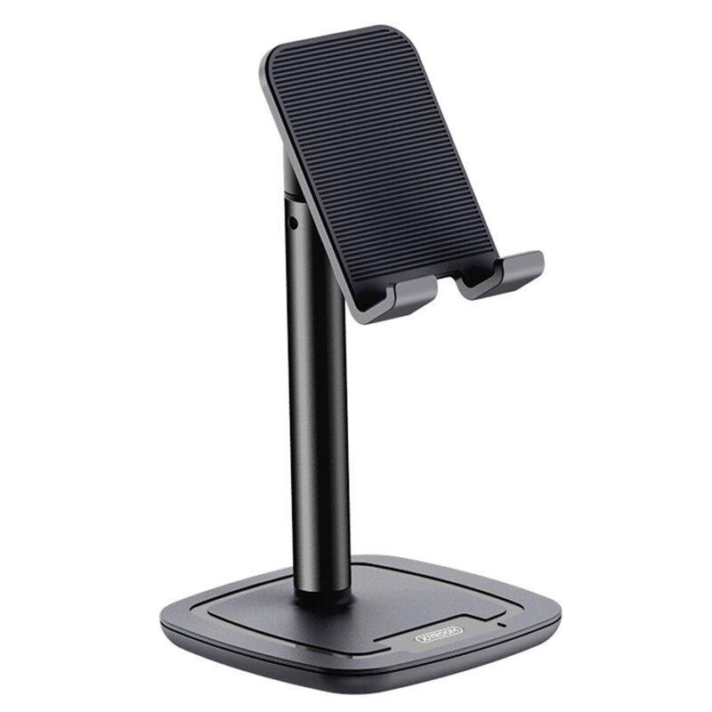 Suport telefon birou, tableta JoyRoom, aluminiu, negru, JR-ZS203