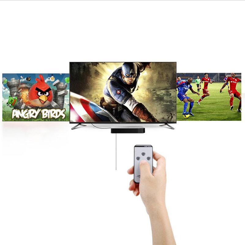 Splitter HDMI 4K Ugreen, HDMI switch 3x1 + telecomanda, negru, 40234