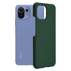 Husa Xiaomi Mi 11 Lite Techsuit Soft Edge Silicone, verde inchis