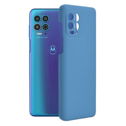 Husa Motorola Moto G100 Techsuit Soft Edge Silicone, albastru