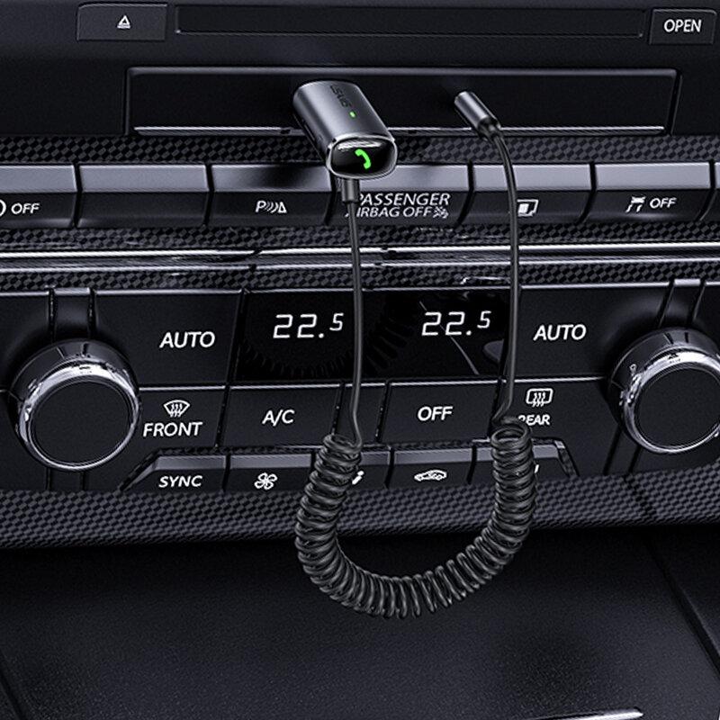 Receptor audio Bluetooth USAMS, transmitator FM, gri, US-SJ504