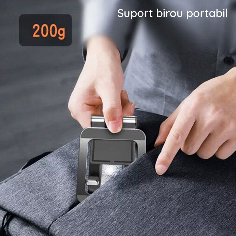Suport telefon birou, tableta Yesido C97, portabil, negru