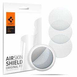 [Pachet 4x] Folie protectie Apple AirTag Spigen AirSkin, clear