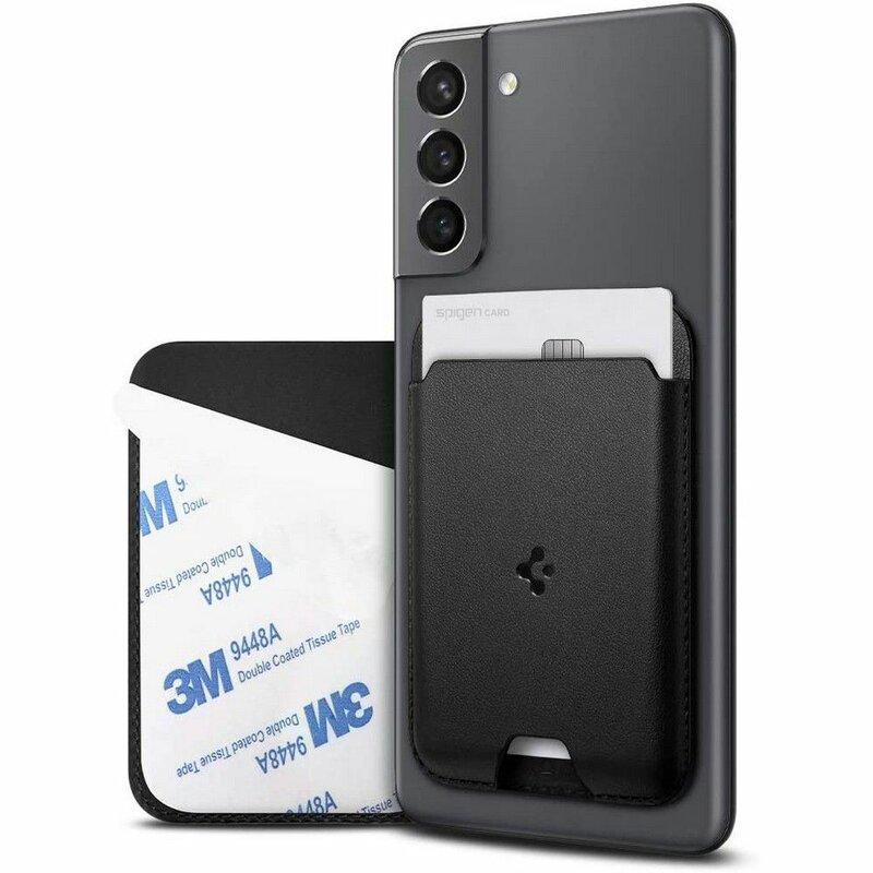 Husa carduri telefon Spigen Valentinus Card Holder, negru