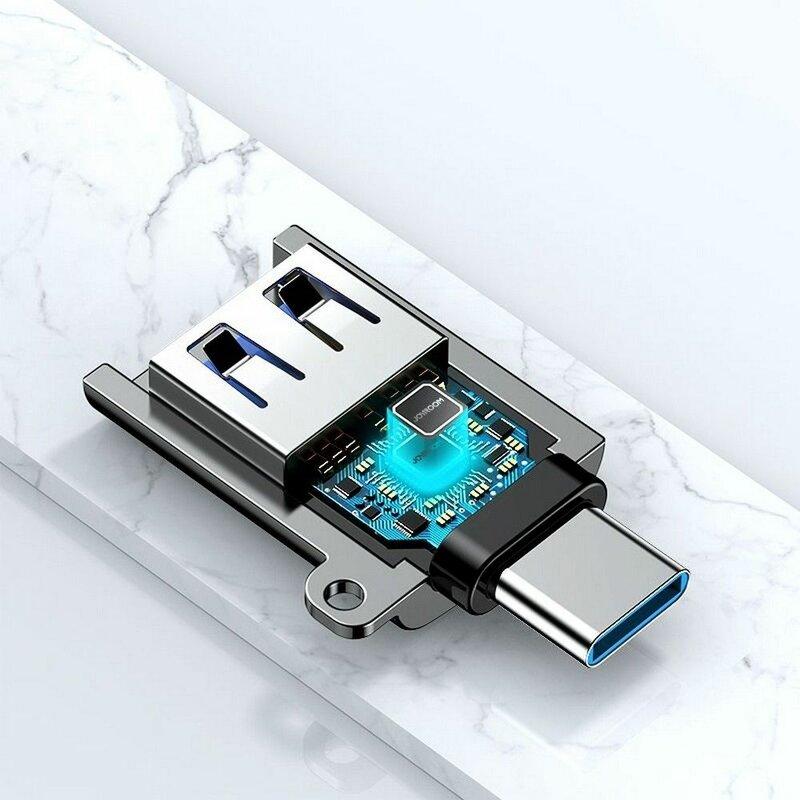 Adaptor USB la Type-C OTG JoyRoom, portabil, negru, S-H151
