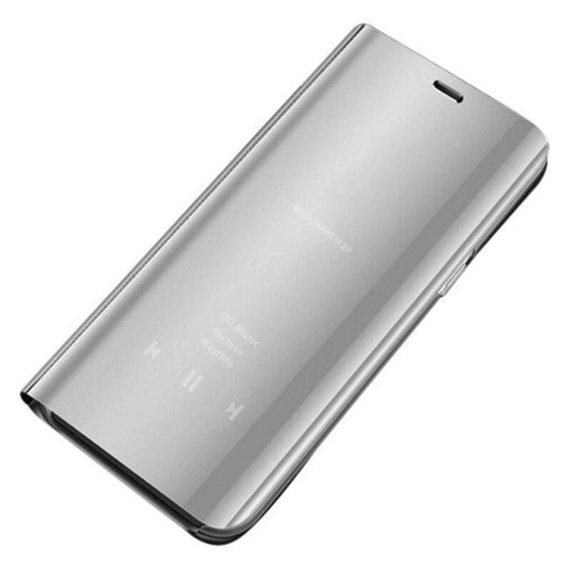 Husa Samsung Galaxy S21 Ultra 5G Flip Standing Cover - Argintiu
