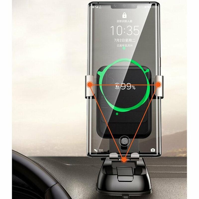Suport telefon auto bord JoyRoom, incarcator wireless, negru, JR-ZS220