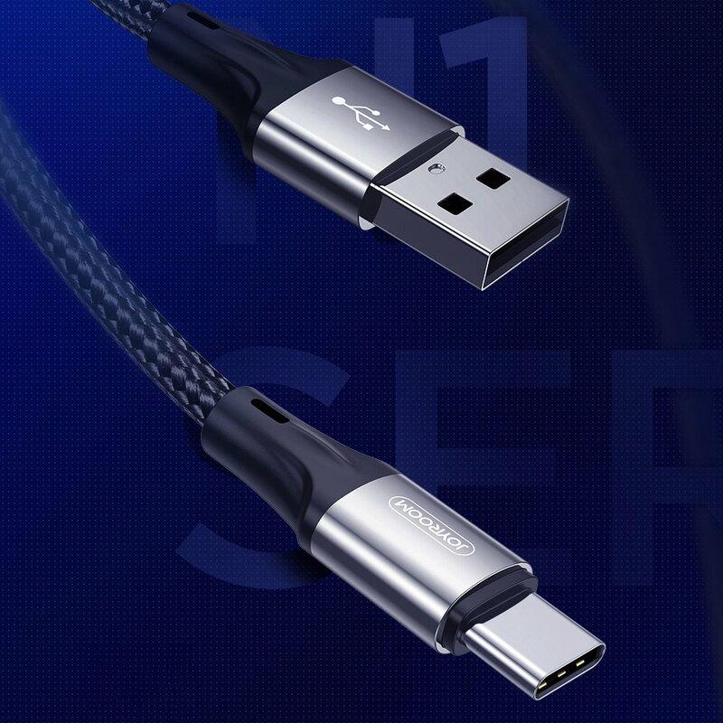 Cablu de date JoyRoom N1 USB la Type-C, 3A, 480Mbps, 1m, negru