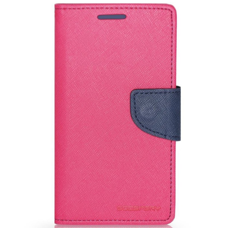 Husa iPhone 7 Flip Roz - Albastru MyFancy