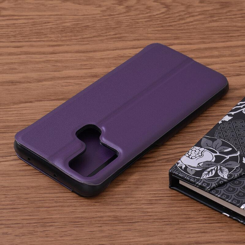 Husa Samsung Galaxy M30s Eco Leather View Flip Tip Carte - Mov