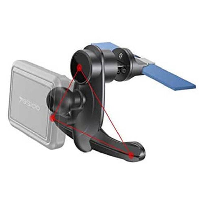 Suport telefon magnetic auto Yesido C95, grila ventilatie, negru