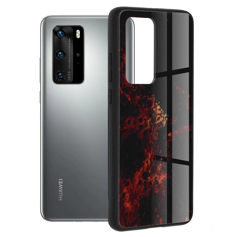 Husa Huawei P40 Pro Techsuit Glaze, Red Nebula