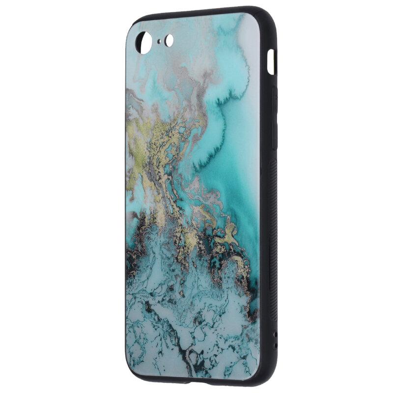 Husa iPhone SE 2, SE 2020 Techsuit Glaze, Blue Ocean