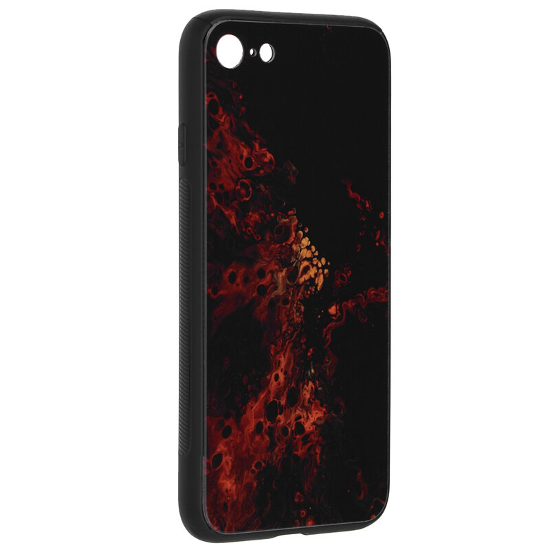 Husa iPhone 8 Techsuit Glaze, Red Nebula
