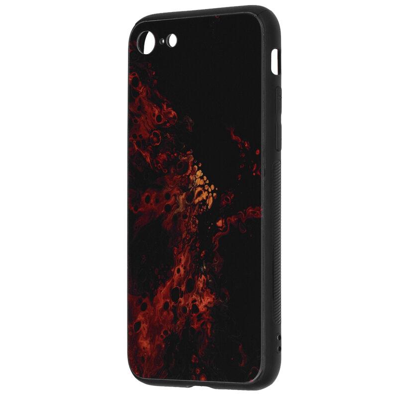 Husa iPhone SE 2, SE 2020 Techsuit Glaze, Red Nebula