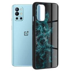 Husa OnePlus 9R Techsuit Glaze, Blue Nebula