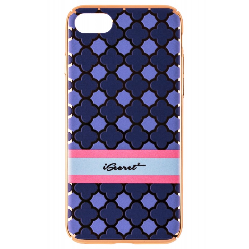 Husa iPhone 7 iSecret UltraSlim - Blue Shapes