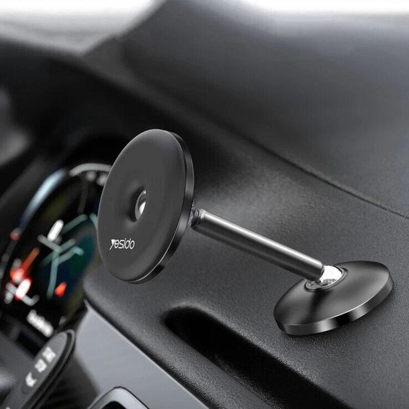 Suport telefon magnetic auto adeziv pentru bord Yesido C93, negru