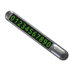 Suport numar telefon auto Yesido C88 parcare temporara, negru
