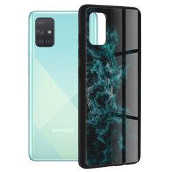Husa Samsung Galaxy A71 Techsuit Glaze, Blue Nebula