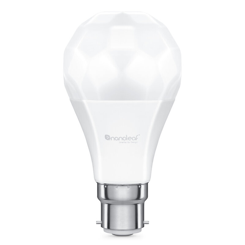 Bec LED inteligent Nanoleaf A60 B22, smart Wi-Fi, 9W, lumina RGBCW