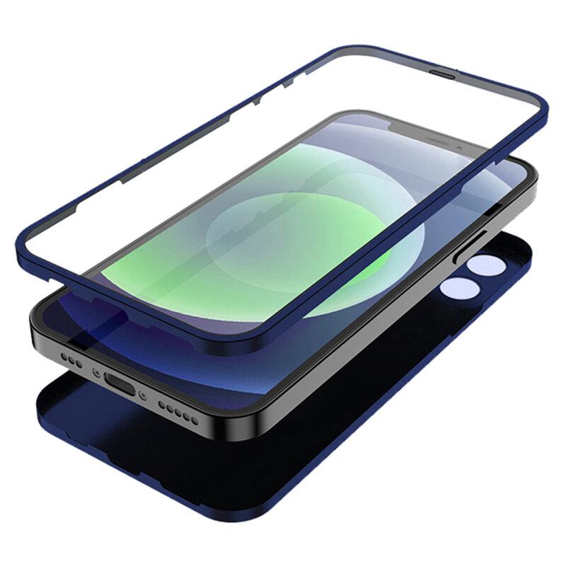 [Pachet 360°] Husa + folie iPhone 12 Pro Max Lito Full Body, albastru